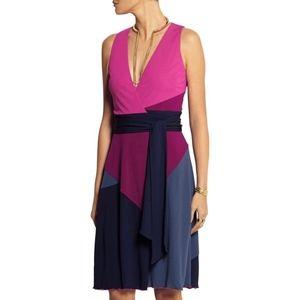 DVF Sandy Colorblock Wrap Dress